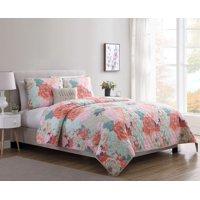 Jodi 3/4 Piece Floral Quilt Set, Multiple Sizes Available