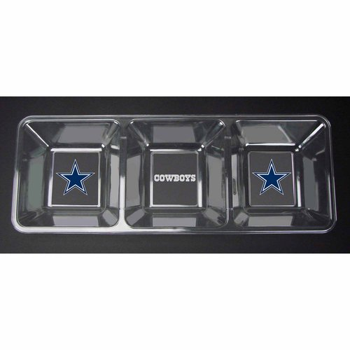 ***P95***NFL Cowboys Clear Snack Tray
