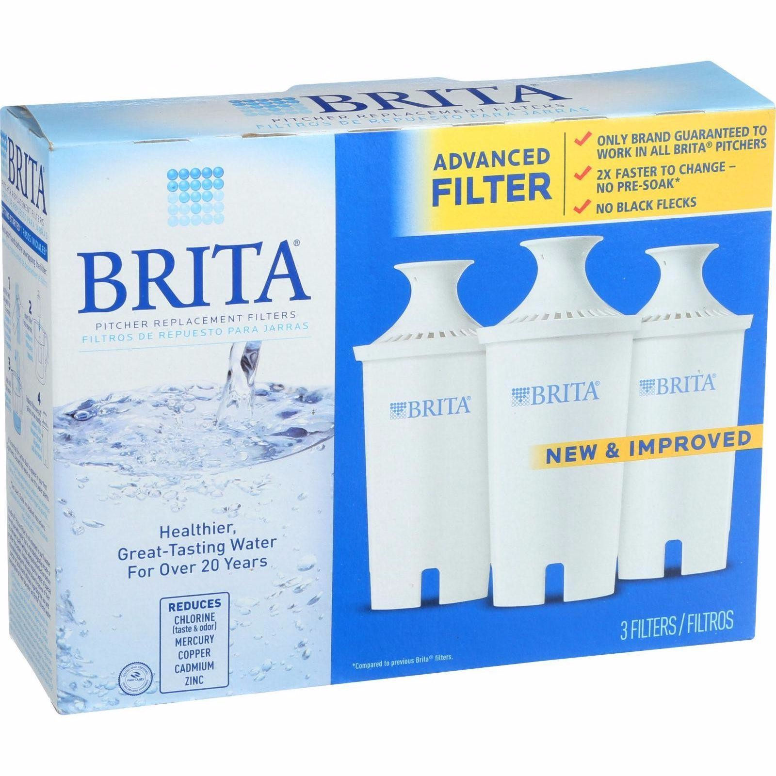Brita Replacement Pitcher And Dispenser Filter - 3 Pack