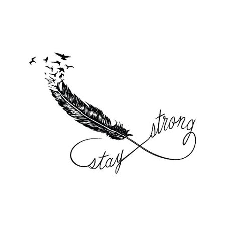 Tattify stay strong feather temporary tattoo holdfast set of 2 - Stay strong tatouage ...
