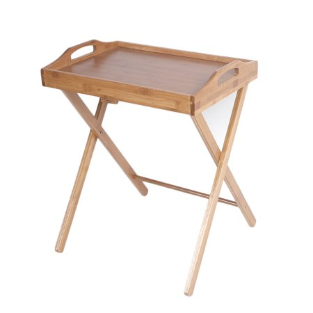 Ktaxon Portable Bamboo Folding Wood TV Tray Dinner Table Coffee Stand Serving Snack Tea