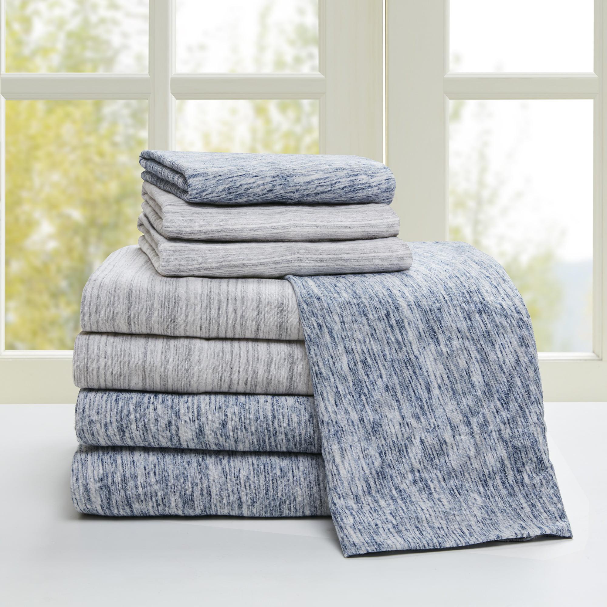 Comfort Classics Space Dyed Cotton Jersey Knit Sheet Set