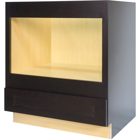 Everyday Cabinets 33-inch Dark Espresso Shaker Microwave Base ...