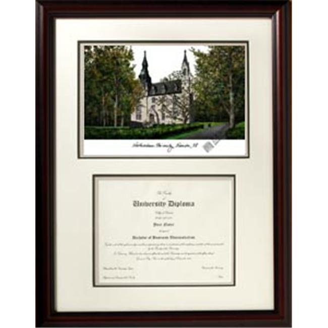 Campus Images IL971V Northwestern University ''Scholar'' Lithograph and Diploma Frame