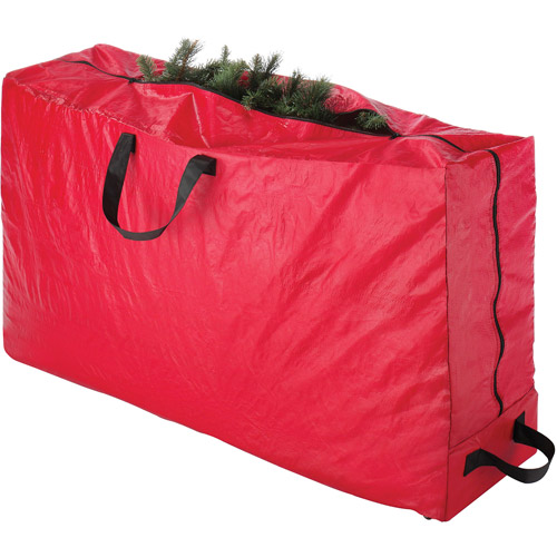 Whitmor Christmas Tree Rolling Storage Bag, Red