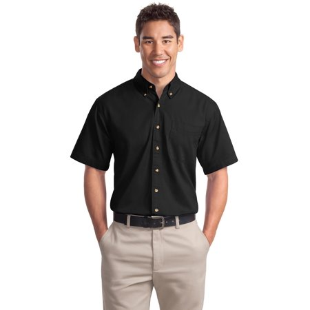 Port Authority Men's 100 Percent Cotton Short Sleeve Twill Shirt -