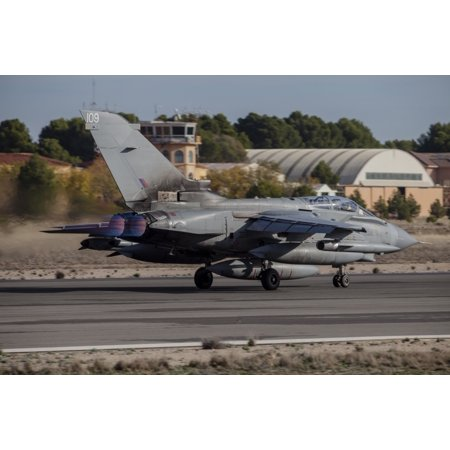- A Royal Air Force Tornado GR4 taking off from Albacete Air Base Spain Stretched Canvas - Timm ZiegenthalerStocktrek Images (34 x 23)