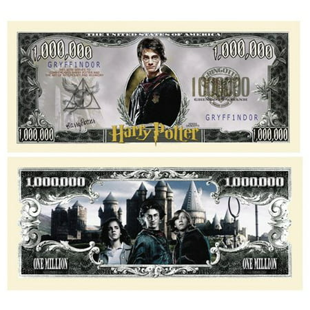 Million Dollar Currency (Harry Potter Million Dollar Bill Collectible in Currency Holder, This Special Edition Collectible Dollar Bill CERTIFICATE SERVES TO RECOGNIZE THE.., By American Art)