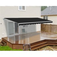ALEKO 10'x8' Retractable Patio Awning, Black Color