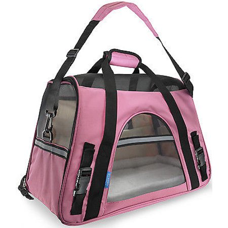 We Offer Pet Carrier Soft Sided Large Cat Dog Comfort Rose Wine Pink Bag Travel Approved  Istilo232203