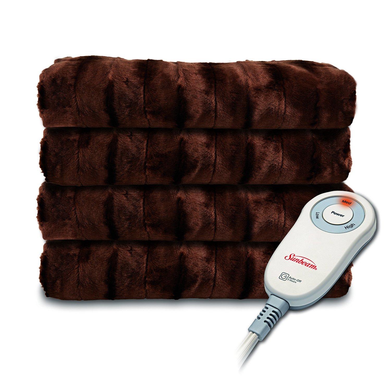 Sunbeam Microplush Faux Fur Heated Electric Throw