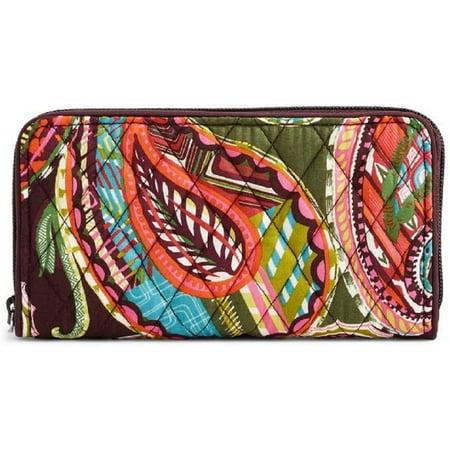 Vera Bradley RFID Georgia Wallet in Heirloom Paisley Vera Bradley Wallet Strap
