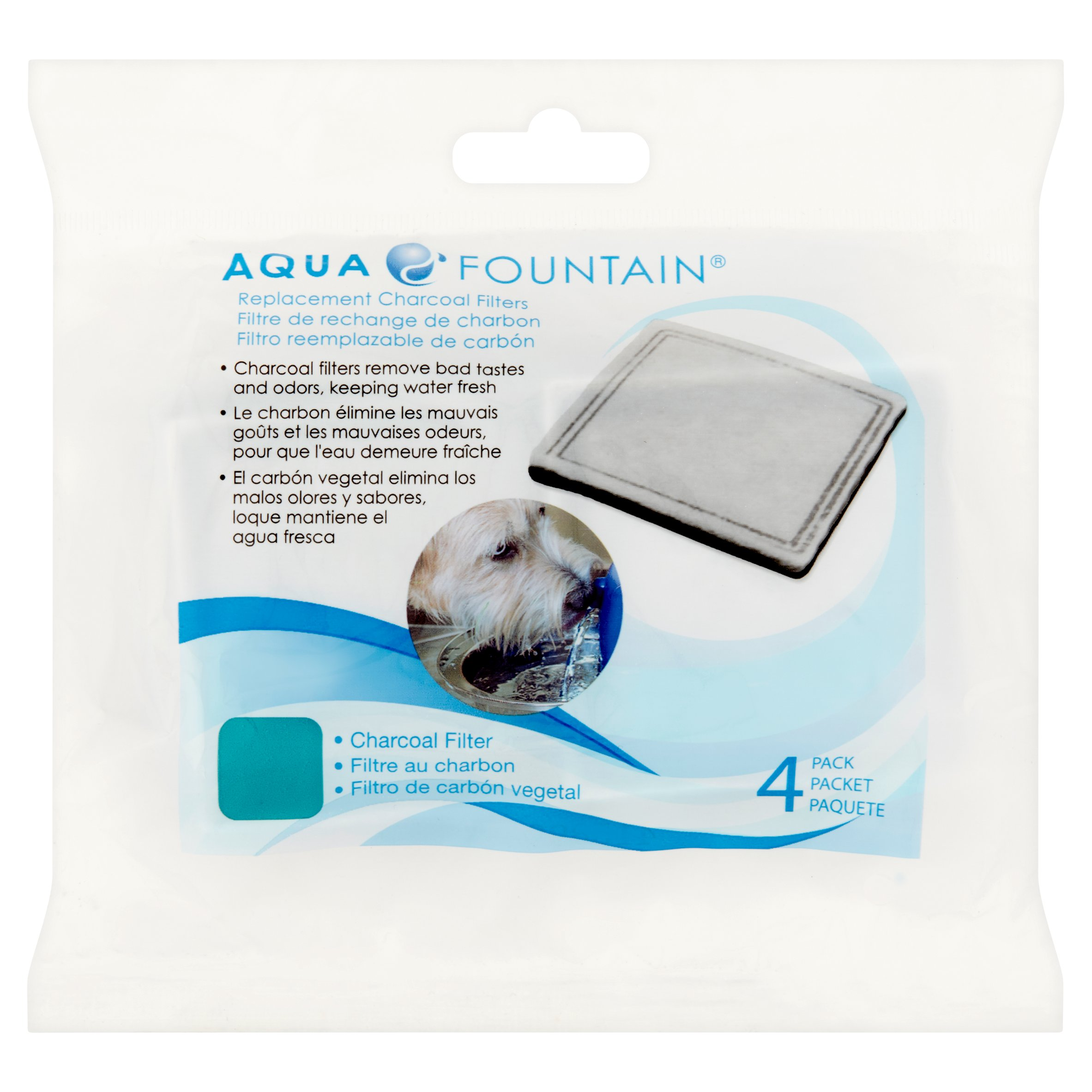 Aqua Pet Fountain Filters, 4 ct