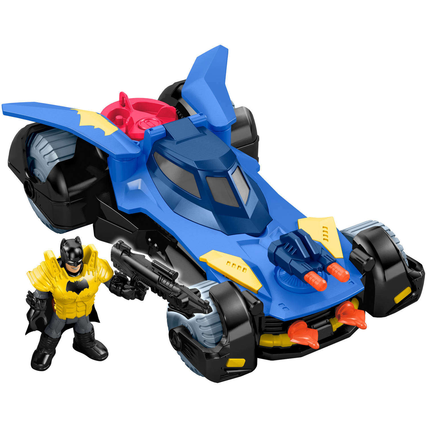 Imaginext DC Super Friends Deluxe Batmobile Vehicle with Batman Figure