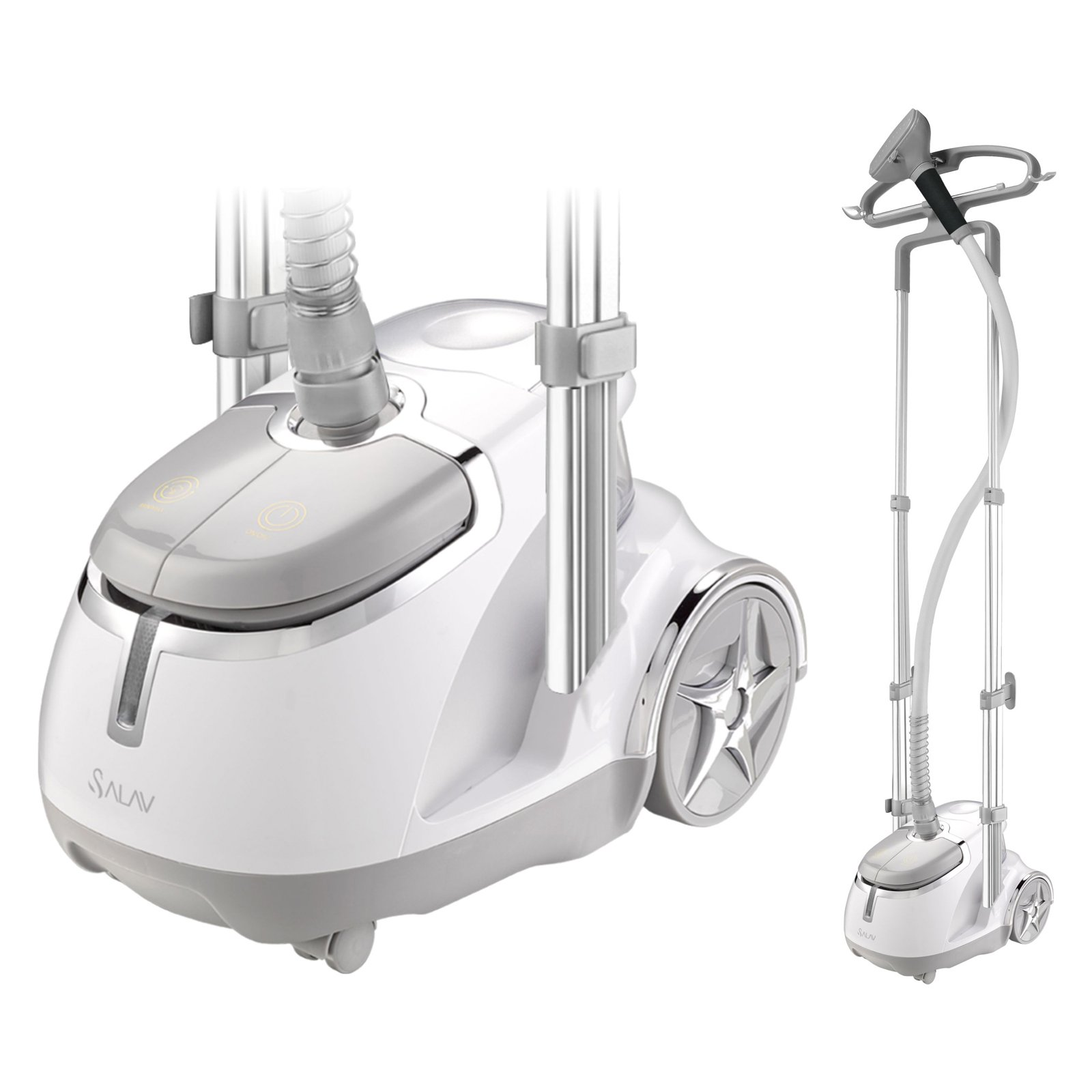 SALAV GS45-DJ Dual Bar Garment Steamer w/ Foot Pedal Controls, Silver