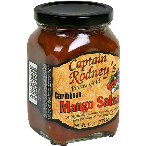 Captain Rodney's Pirates Gold Caribbean Mango Salsa, 13 oz (Pack of 6)