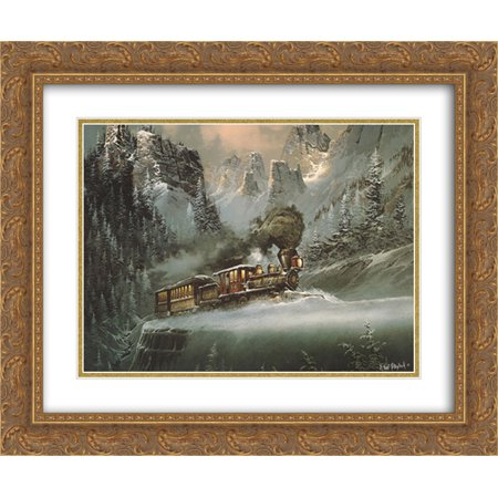 Upward Pull 2x Matted 24x20 Gold Ornate Framed Art Print by Ted Blaylock