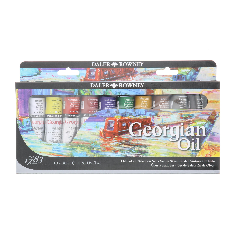 Daler-Rowney Georgian Oil Colors, Palette Selection Set