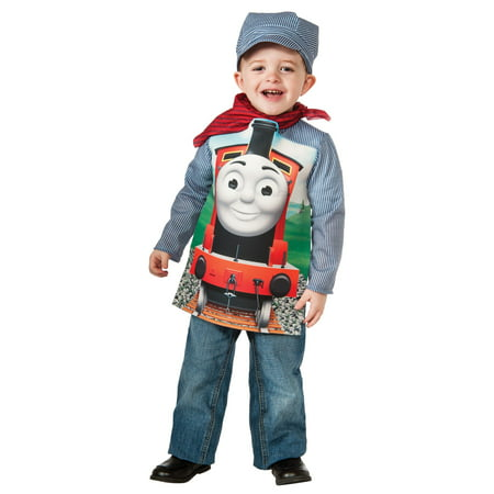 Thomas The Tank Engine Costume For Adults (Thomas the Tank Deluxe James Train & Engineer Costume for)