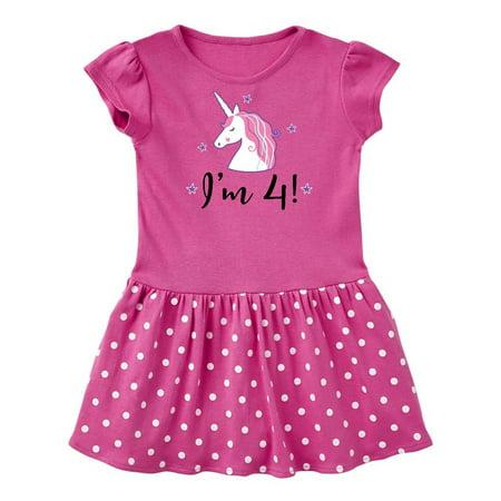 4th Birthday Cute Unicorn Toddler Dress - Cute Ways To Dress Up