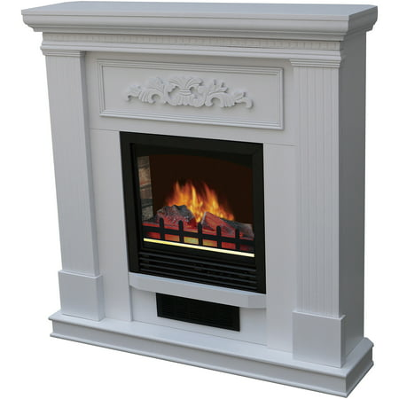 Decor Flame Electric Space Heater Fireplace With 38