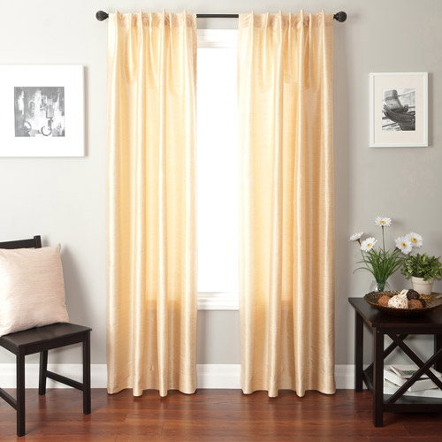 Softline Bergamo Back Tab and Rod Pocket Curtain Panel