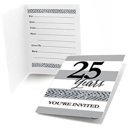 40th Wedding Anniversary Invitations - We Still Do - 25th Wedding Anniversary Fill In Invitations (8 count)