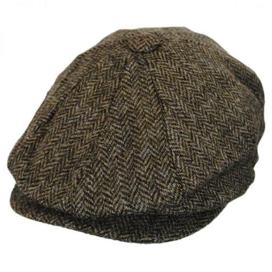 b644cc8de69 Baskerville Hat Company - Heathclif Herringbone Wool Newsboy Cap - L ...