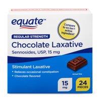 Equate Regular Strength Chocolate Laxative Sennosides, USP, 15 mg