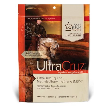 UltraCruz Equine Horse MSM Joint Supplement, 1 lb, Pure Powder (21 Day