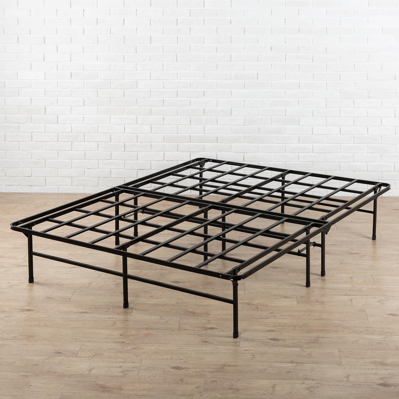 "Spa Sensations 14"" High Profile Foldable Steel Smart Base Bed Frame with Under-Bed"