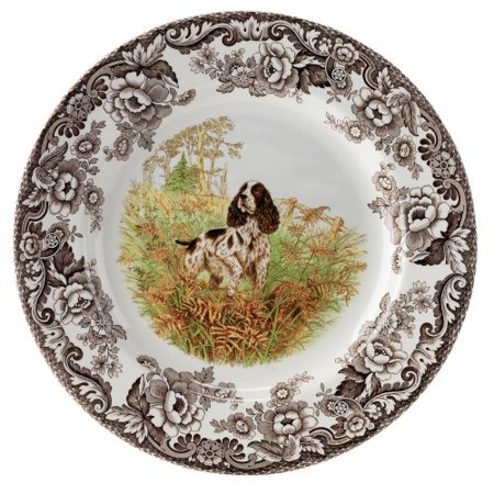 Woodland Hunting Dogs English Springer Spaniel Salad Plate, Dogs make popular, lovable family companions, but of course many were originally bred for alternate purposes.., By (English Springer Spaniel Hunting Dogs For Sale)