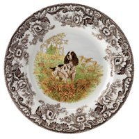 Woodland Hunting Dogs English Springer Spaniel Salad Plate, Dogs make popular, lovable family companions, but of course many were originally bred for alternate purposes.., By Spode