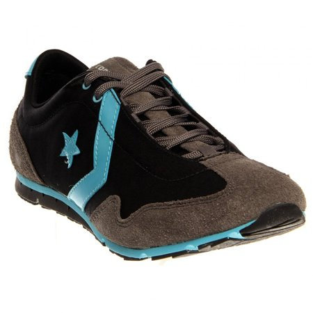 3ad356c8ea54 Converse Women s Revival Ox Black   Blue Ankle-High Fabric Running Shoe -  9.5M ...