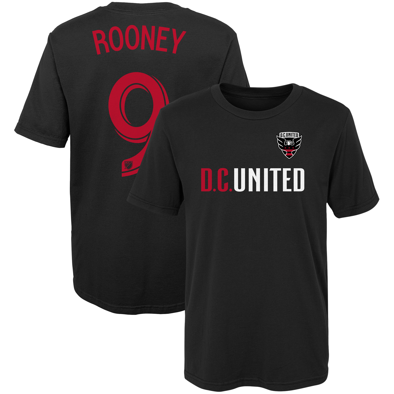 Wayne Rooney D.C. United Preschool Name & Number T-Shirt - Black