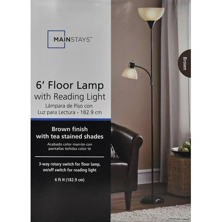Mainstays Combo Floor Lamp Brown Best Floor Lamps
