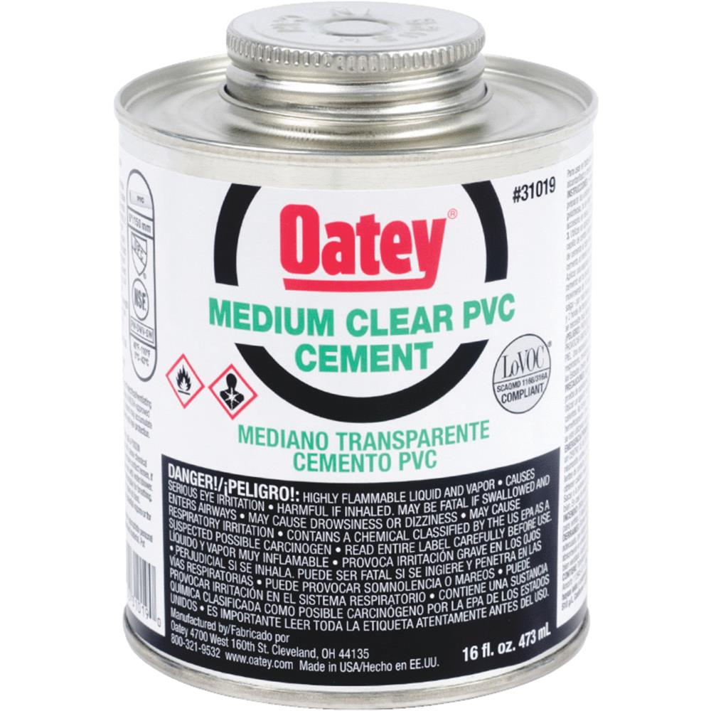 Oatey Pint Pvc Medium Cement 31019