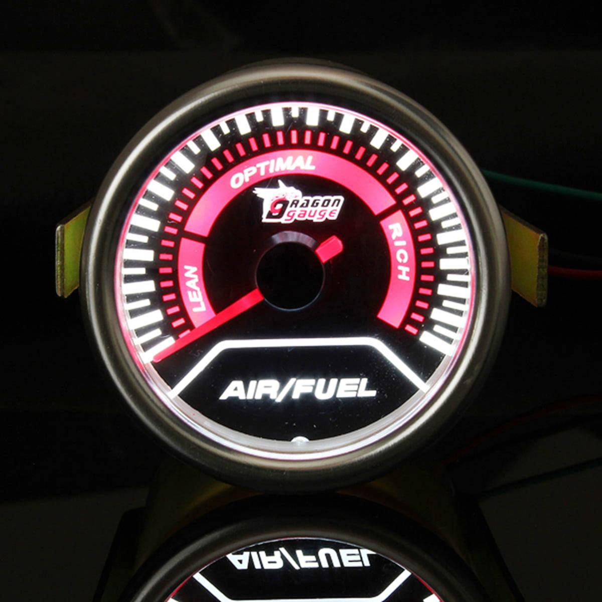 "Air Fuel Ratio Gauge LED Meter Dash Tint Smoke Tachometer 52mm 2/"" Tach New Motor"