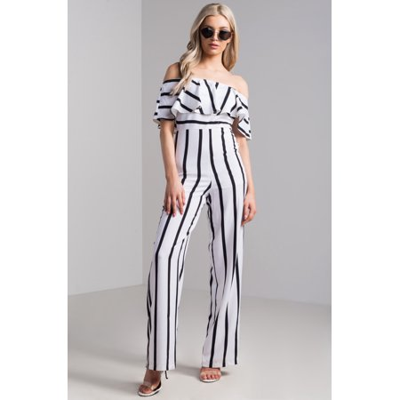 0f8194ca2 AKIRA - REFEREE STRIPED JUMPSUIT - Walmart.com