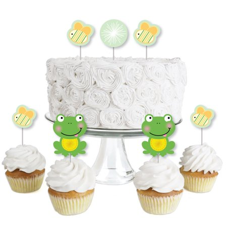 Froggy Frog - Dessert Cupcake Toppers - Baby Shower or Birthday Party Clear Treat Picks - Set of (Froggy Frog)