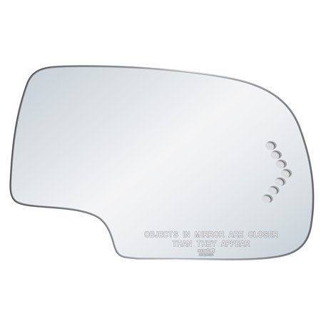 Exactafit 8720SR Passenger Right Side Mirror Glass Replacement Kit with Adhesive Pad Fits Chevrolet Avalanche Silverado Suburban Tahoe GMC Sierra Yukon Cadillac Escalade