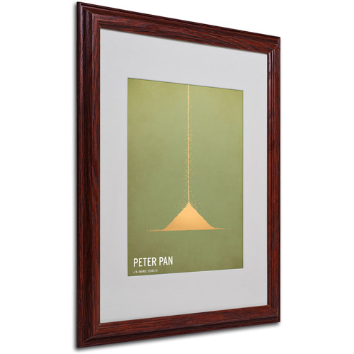 "Trademark Fine Art ""Peter Pan"" by Christian Jackson, Wood Frame"