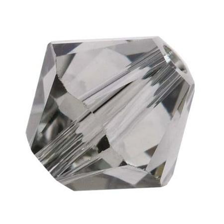Swarovski Crystal, #5328 Bicone Beads 6mm, 20 Pieces, Black Diamond Colorado Topaz Swarovski Crystal Beads