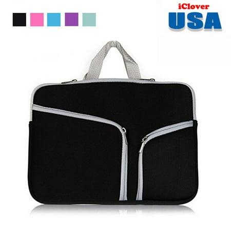 Black Soft Case Bag (IClover 11 Inch Waterproof Thickest Protective Slim Laptop Case for Macbook Apple Samsung Chromebook HP Acer Lenovo Portable Laptop Sleeve Liner Package Notebook Case Bag Soft Sleeve Bag  Case)