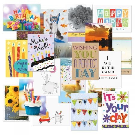 Mega Birthday Cards Value Pack - Set of 40 (20 designs)