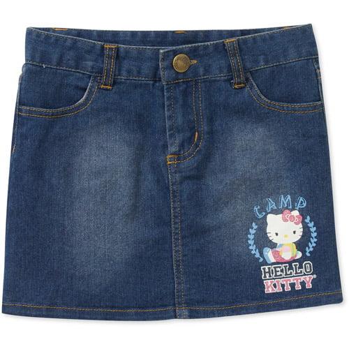Hello Kitty Little Girls' Denim Skirt