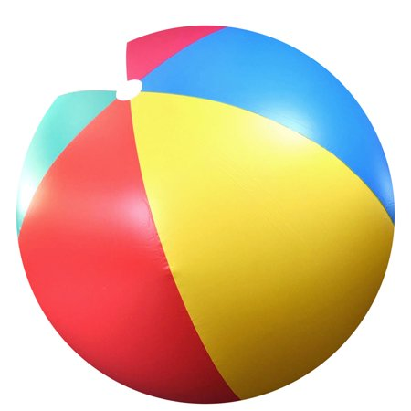 BestEquip 6ft Giant Beach Ball Inflatable Beach Ball Pool Toy