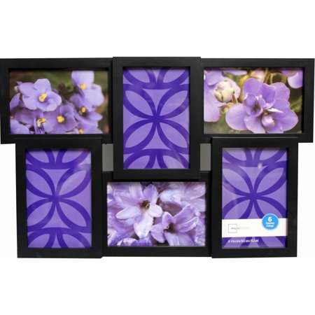 Mainstays 6 Opening Collage Frame Black Walmartcom