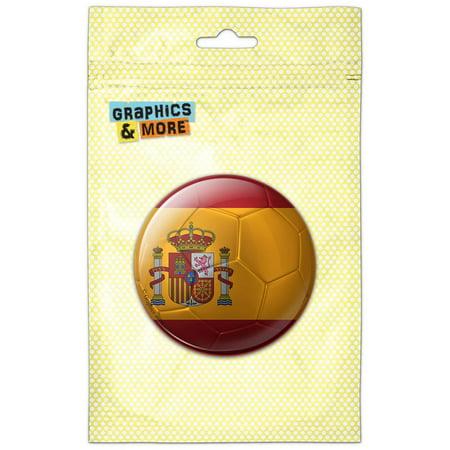 Spain Flag Soccer Ball Futbol Football Refrigerator Button Magnet](Football Buttons)