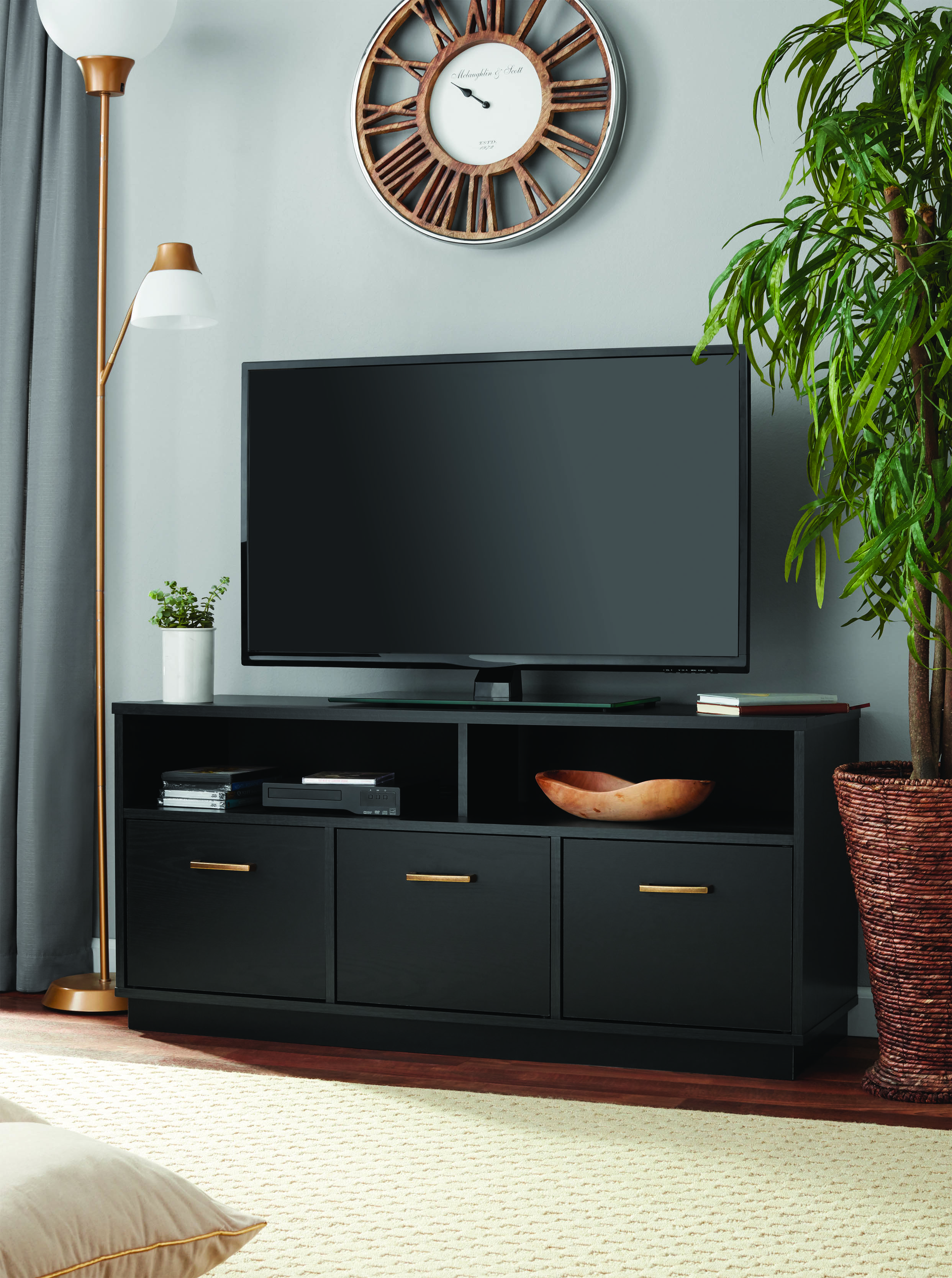 Mainstays 3-Door TV Stand Console for TVs up to 50 ... on